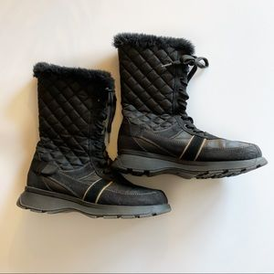 Mudd quilted lace up winter boots size 8.5